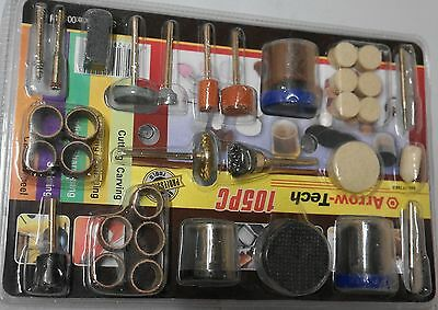 105Pcs Grinding Sanding Polishing Rotary Tool Wheel Accessory Kit Set For Dremel