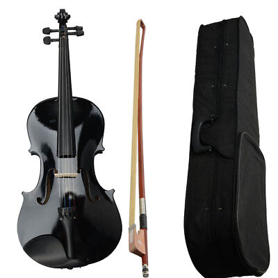 """Basswood Student Black Acoustic Viola Size 16"""" Adults with Case Bow,Rosin UK"""