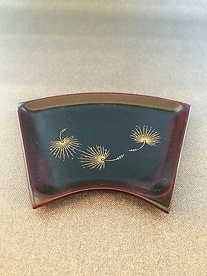 Lacquered Sweets Tray Japanese Tea Ceremony Pine Design