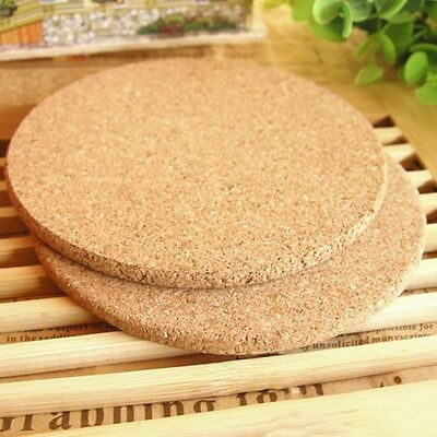 6pcs Drink Coaster Tea Coffee Cup Mat Pads Cork Wood Table Decor Tableware NEW