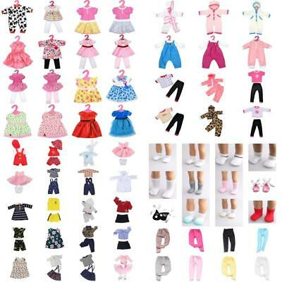 Fashion Dolls Clothes Set Dresses Leggings Socks for 18inch American Girl Doll