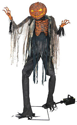 Halloween Life Size Animated Scorched Scarecrow Pumpkin Prop Decor-*Fog Machine
