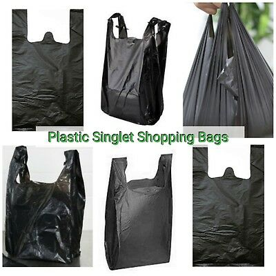 Plastic Singlet Grocery Shopping Checkout Bags LARGE-MEDIUM-SMALL BULK SALES