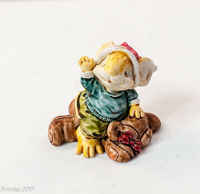 """Little Cheesers """"Jeremy with Teddy Bear"""" Figurines 1991 # 05305 Ganz Collectible"""