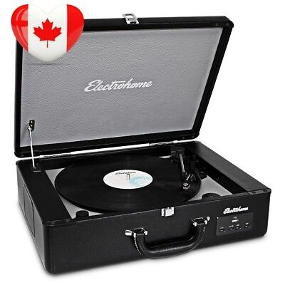 Electrohome Archer Vinyl Record Player Classic Turntable Stereo System with...
