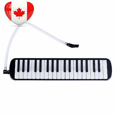Melodica 37 Keys Mugig with Carrying Case, Green Material