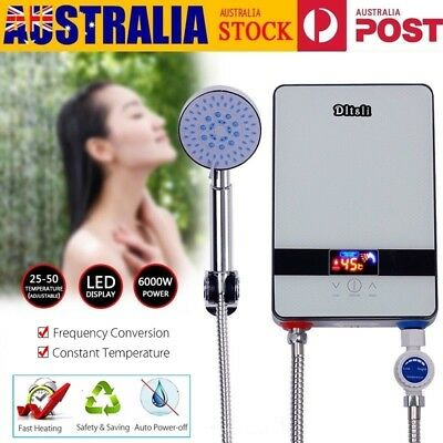 6000W Instant Electric Water Heater Tankless Shower Hot Water System AU STOCK