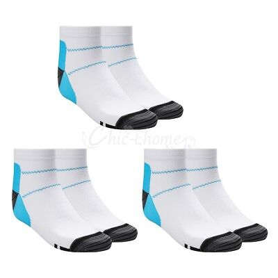 3 Pairs Compression Socks Plantar Arch Ankle Running Support Mens Womens S-XL