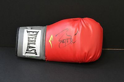 Barry McGuigan Hand Signed Red Boxing Glove