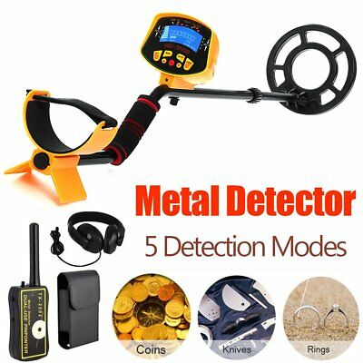 Metal Detector LCD Screen Treasure Hunting Deep Target Power Coils Waterproof MK