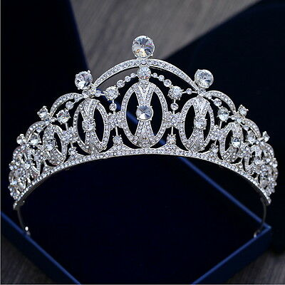 7cm High Luxury Crystal Large Crown Tiara Wedding Bridal Prom Party Pageant