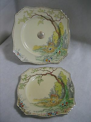 Royal Winton 'Wishing Well' Cake Plate & Serving Plate
