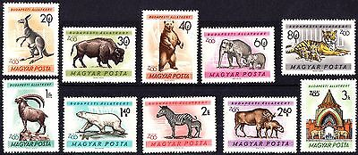 Hungary 1961 Mint Budapest City Zoo Complete Set MNH