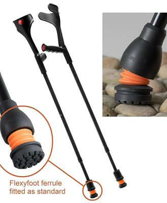 Flexyfoot Open Cuff Crutches with Soft Grip Handle