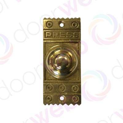 VICTORIAN VINTAGE DOOR BELL PUSH Solid Brass Retro Front Antique Chime Press