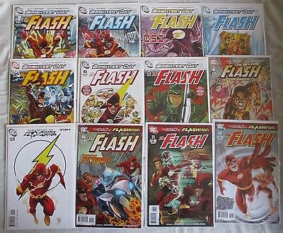 The Flash Lot - Brightest Day & Road To Flashpoint #1 to #12 - Geoff Johns DC NM
