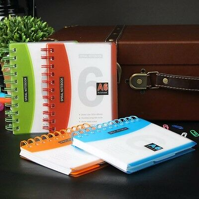 A6/A5/B5 Spiral Coil Number Notebook Diary Journal Stationary Note Book Memo New