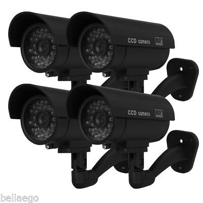 Outdoor/Indoor Dummy Fake Surveillance Security CCTV Camera With LED Flash