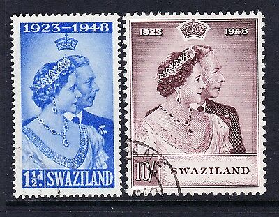 Swaziland 1948 Royal Silver Wedding Sg 46-47 Fine Used.