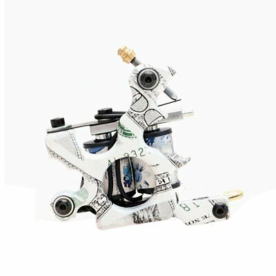Cast Iron Tattoo Machine US Dollar Design 10 Wrap Coil Tattoo Gun For Body Art T