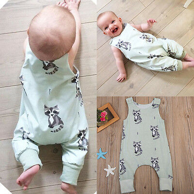 Toddler Newborn Baby Boys Girl Romper Bodysuit Jumpsuit Playsuit Outfits Clothes