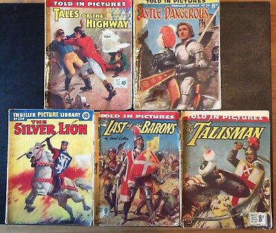 """Five 1950's Thriller Comics Library """"The Talisman, Tales Of The Highway"""" Comics"""