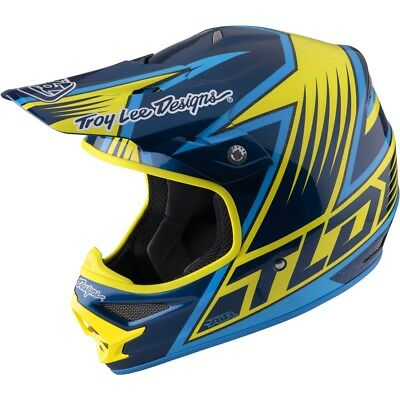 Motorradhelm Troy Lee Designs Air Light Vengence Yellow MX Helm #8790 Cross Helm