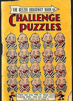 D,c.thompson 1930's Skipper Comic Mini Book Broadway Of Challenge Puzzles Vg