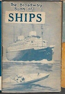 D,c.thompson 1930's Skipper Comic Mini Book Broadway Of Ships Vg