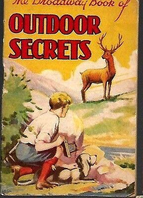 D,c.thompson 1930's Skipper Comic Mini Book Broadway Outdoor Secrets Vg
