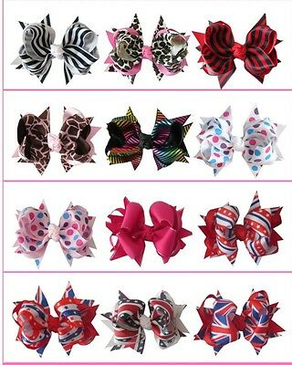 "28 BLESSING Good Girl Boutique 4.5"" Ring Hair Bow Clip Accessories Lowest Price"