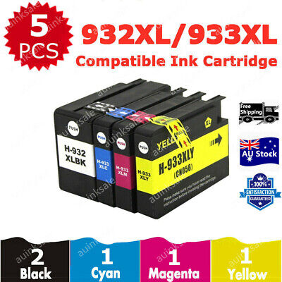 5X HP 932XL 932 933XL Ink Cartridge For Officejet 6700 6100 6600 7610 7612 7110