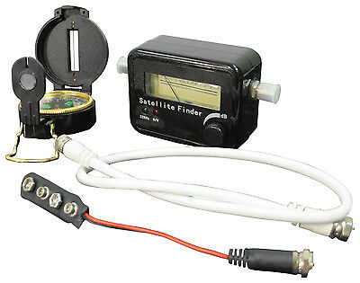 Satellite Dish Align Signal Finder Kit Meter Compass - For Sky Installation