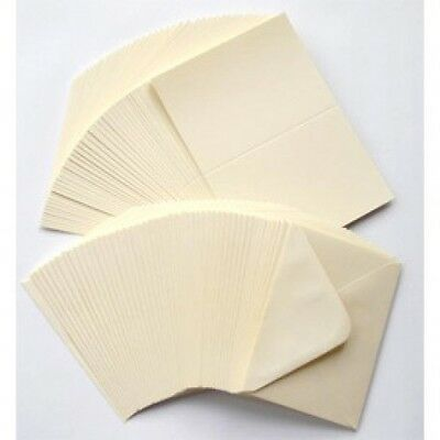 "25 IVORY CREAM 5"" x 7"" 225GSM CARD BLANKS WITH ENVELOPES CARD MAKING SUPPLIES"