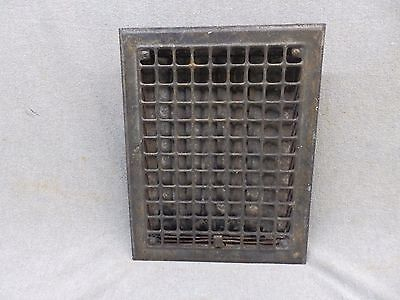 Vintage Stamped Steel Floor Heat Grate Ceiling Vent Old Hardware 12x9 322-17P