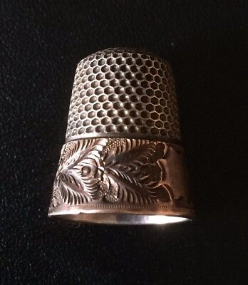 Vintage Silver/Gold Sewing Thimble