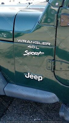 1997-2006 JEEP WRANGLER Sport 4.0L Replacement fender Decals sticker Both sides!