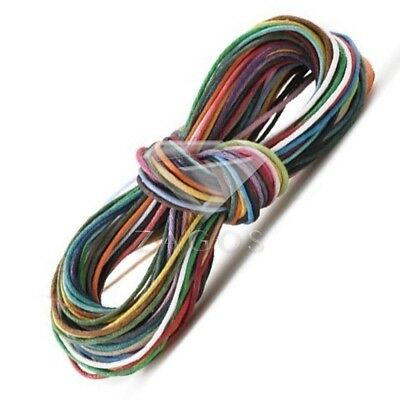 15pcs Waxed Cotton Cord Thread Jewellery Making Necklace Bracelet 1mm Assorted