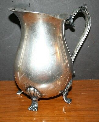 VTG Leonard Silver Plated Pitcher Water Pitcher With Legs EUC