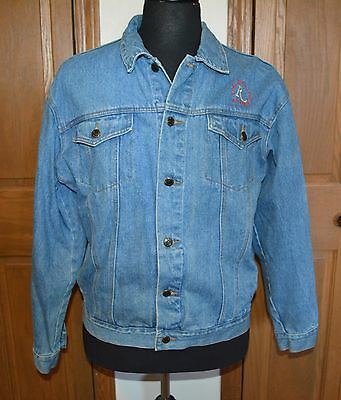 VTG Riviera Blues Denim Jean Jacket Riviera Casino Las Vegas Size Med/Large USA