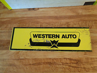 "VINTAGE Western Auto Metal Sign 19 1/2"" by 6"""