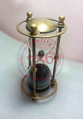 Nautical Solid Brass Sand Timer Maritime Marine Hour Glass Desk Top Decor Gift