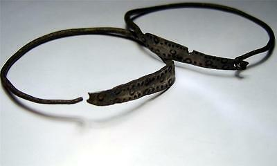Pair Of Viking Silver Bracelets