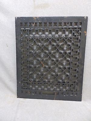 Antique Victorian Cast Iron Cold Air Return Vent Vintage Grill 20x16 344-17P