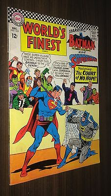 WORLD'S FINEST #163 -- December 1966 -- Batman / Superman -- F Or Better