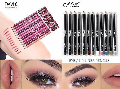 Eye Lip Liner Pencil Eyeliner Lipliner Cosmetic Makeup Shadow Colours True Brow