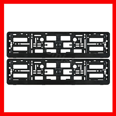 2 x New Black Effect License Number Plate Holder Surround Frame for BMW M-Power