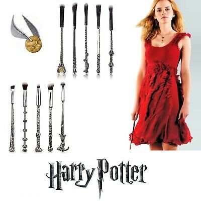 Harry Potter Wizard Wand Make Up Brushes Magic Brushes Collection Gifts UK Set