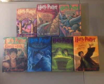 Complete Series! Lot Of 7 Harry Potter Hardcover Books! 1-7 Set!