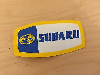 subaru patch, new old stock, iron on, 1980's